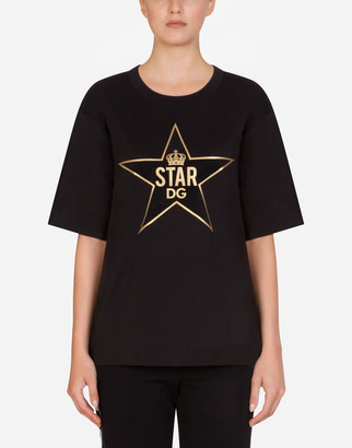 Dolce & Gabbana Millennials Star Print Jersey T-Shirt