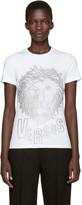 Versus White Eyelet Lion T-Shirt