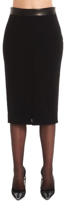 Tom Ford Cinched Waist Split Hem Pencil Skirt