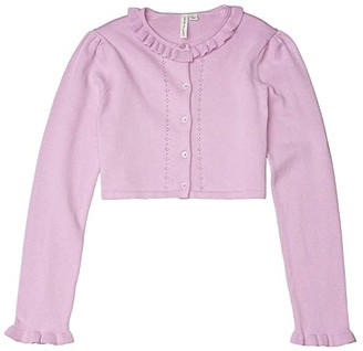 Janie and Jack Cardigan Sweater (Toddler/Little Kids/Big Kids) (Purple) Girl's Clothing