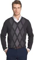 Van Heusen Men's Regular-Fit Argyle V-Neck Sweater