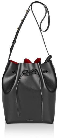 Mansur Gavriel Leather Bucket Bag - Black