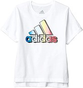 adidas Kids Kids Classic Boxy Tee (Toddler/Little Kids) (White) Girl's Clothing