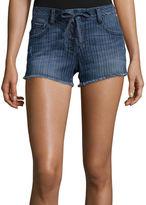 Arizona Striped Raw-Cuff Lace-Up Shorts