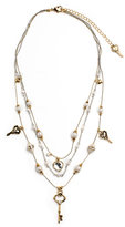 Betsey Johnson Bead and Key Illusion Necklace