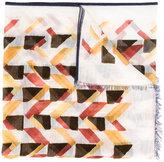 Canali geometric pattern scarf - men - Cotton/Linen/Flax - One Size