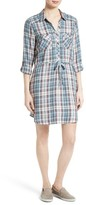 Joie Women's Dashalynn Plaid Tie Waist Shirtdress