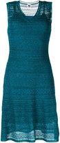 M Missoni v neck lace style layer dress - women - Polyamide/Polyester - 40