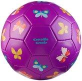 Crocodile Creek Butterflies Purple Kids Soccer Ball Size 3, 7 inches