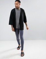 Asos Loungewear Meggings In Navy Marl