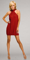 Red Twisted Halter Party Dresses