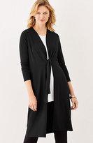 J. Jill Wearever Tie-Front Jacket