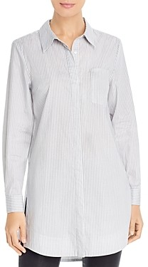 Marled Striped Button-Down Tunic