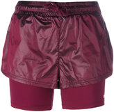 adidas by Stella McCartney running 2in1 shorts - women - Nylon - S
