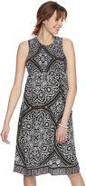 Maternity a:glow Print Smocked Midi Dress