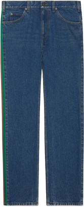 Gucci Regular fit marble washed jeans