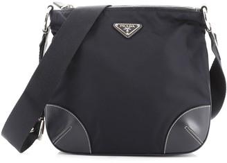 Prada Belt Strap Messenger Bag Tessuto Small