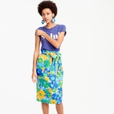 J.Crew Petite tie-waist skirt in puckered morning floral