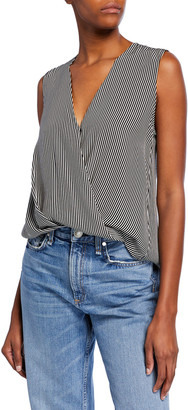 Rag & Bone Victor Striped Sleeveless Blouse