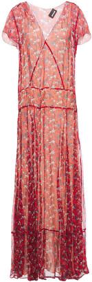 Just Cavalli Floral-print Silk-crepon Maxi Dress