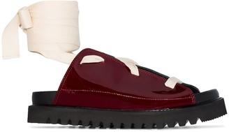 Plan C Lace-Up Self-Tie Sandals