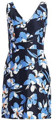 Hibiscus Print Sheath Dress