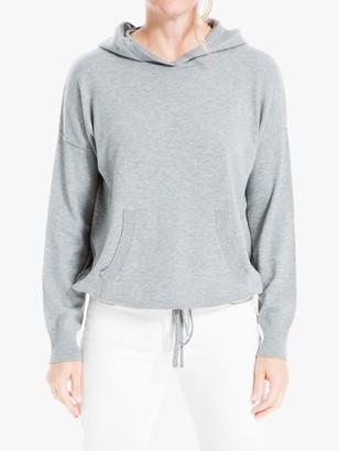 Max Studio Knitted Hoodie, Grey
