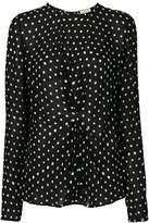 Saint Laurent gathered polka dot blouse