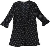 Polka Dot Plunge V-Neck Mini Dress