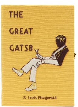 Olympia Le-Tan The Great Gatsby Embroidered Book Clutch - Yellow Multi