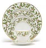 Noritake Holly & Berry Gold 5-Piece Place Setting