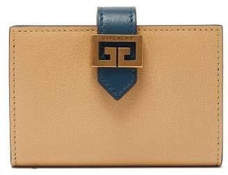 Givenchy Gv3 Logo-clasp Leather Bi-fold Wallet - Womens - Beige Multi