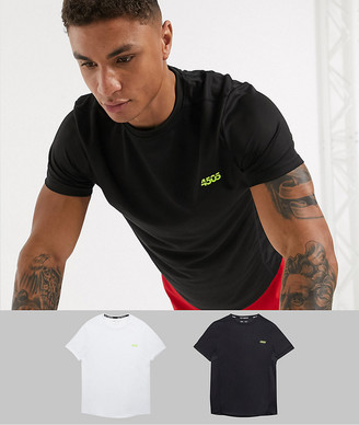ASOS 4505 icon training t-shirt with quick dry 2 pack SAVE