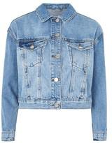 Topshop PETITE Boxy Cropped Denim jacket