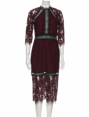 Alexis Lace Pattern Midi Length Dress