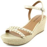 Lucky Brand Lyall Women US 8.5 Gold Wedge Sandal