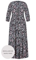 City Chic Etched Floral Maxi Dress