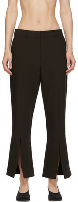 Rokh Brown Kick Split Trousers
