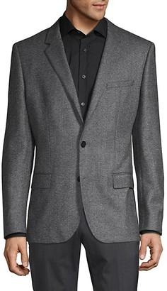 HUGO BOSS Standard-Fit Wool Suit Jacket