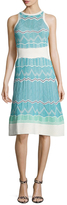 M Missoni Intarsia Cotton Fit And Flare Dress