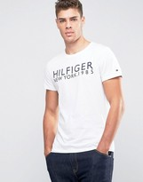 Tommy Hilfiger Logo T-shirt In Organic Cotton White