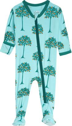Kickee Pants Orange Tree Print Footie