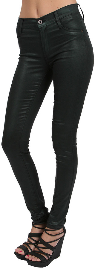 James Jeans Twiggy Coated in Black Emerald Coated