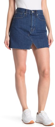 Madewell McCaren Cutout Denim Mini Skirt (Regular & Plus Size)