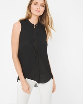 White House Black Market Bib-Front Tunic Tank