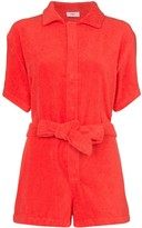 Terry towelling tie-waist playsuit
