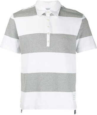 Thom Browne 4-Bar rugby stripe polo shirt