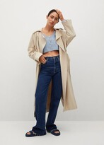 Thumbnail for your product : MANGO Lyocell flowy trench