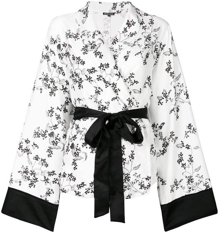 Ann Demeulemeester floral print kimono blouse