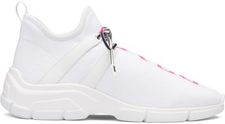 Prada Fabric Jacquard Logo Sneakers